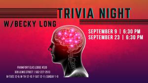 Trivia! @ Frankfort Elks #530